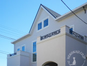 白亜の住宅を引き立てるバルコニーフェンス